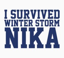 Funny 'I survived Winter Storm Nika' T-Shirt by Albany Retro