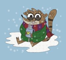 Regular Show - Rigby Sitting On Snow by rigboner62