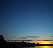 Bowmore Sunset Silhouette by jcollett