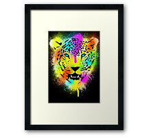 POP Tiger - Colorful Paint Splatters and Drips - Art Prints Framed Print