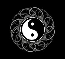 Yin Yang Print by thepixelgarden