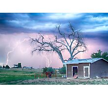 Country Horses Riders On The Storm Photographic Print