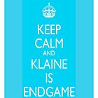 Keep Calm & Klaine is Endgame by LexyDC
