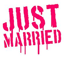 Just Married Stamp Logo by Style-O-Mat