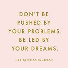 Ralph Waldo Emerson Quote in Pink & Gold by rbx11