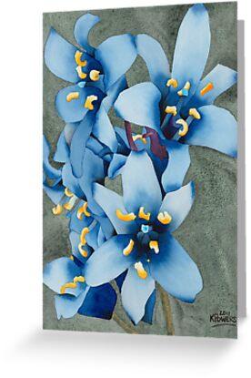 Blue Flowers by Ken Powers