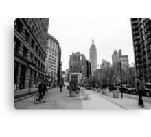 New York City streetscape Canvas Print