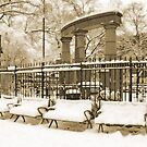 Athens Square Park, Astoria New York by Bernadette Claffey
