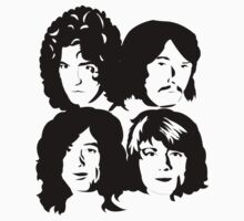 LED ZEPPELIN - BAND CUTOUT FACES - BLACK by Endlessgrief