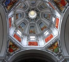 Ceiling of the cathedral of Salzburg - Austria by Arie Koene