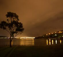 Tasman Bridge from Cornelian Bay, Hobart by Laura O'Dwyer