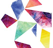 Geometric Watercolour by tarawhyley