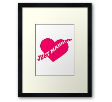 Just Married Heart Framed Print