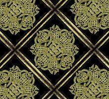 Stone Mystic Symbol Pattern by DFLC Prints
