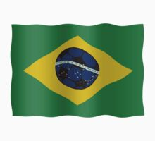 Brazilian flag and football by funkyworm