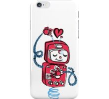 Valentine's Day Robot Pink Blue iPhone Case/Skin