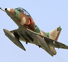 Israeli Air Force (IAF) Skyhawk (Ayit) fighter jet in flight by PhotoStock-Isra