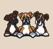 Three Boxers by offleashart