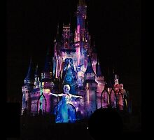 Elsa on the Cinderella Castle by emilymariee8