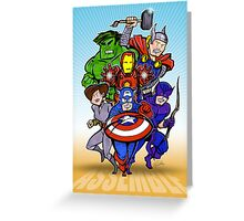 Mighty Heroes Greeting Card