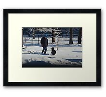 A boy and his dog 2 Framed Print