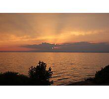Lake Winnebago sunset. Photographic Print