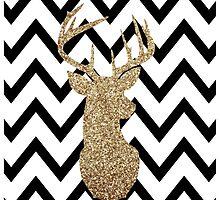 Gold Deer Chevron by danibourland