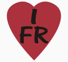 I Love France - Country Code FR T-Shirt & Sticker by deanworld
