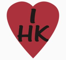I Love Hong Kong - Country Code HK T-Shirt & Sticker by deanworld