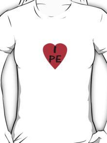 Peru I Love Country Code PE T-Shirt & Sticker T-Shirt
