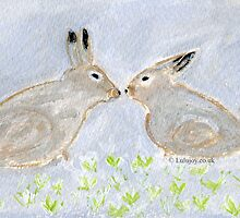 Loving Rabbits  Conejitos Amorosos by lulujoy