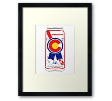 Colorado Blue Ribbon Framed Print