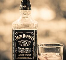 Jack Daniels black and white by Eti Reid