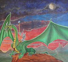 Dragon with rider by StephenLTurner
