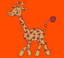 Red Heart Spotted Giraffe Kids Clothes