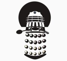Dr. Who 2-Tone Abstract Dalek Tshirt by Ged J