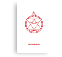 Flame Transmutation Circle Canvas Print