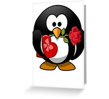 Valentine's Day Penguin Greeting Card