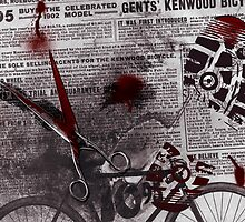 Crime Evidence - Blood and Scissors - Art Prints by Denis Marsili