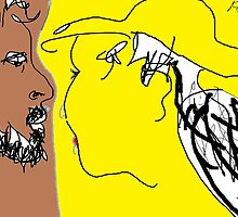 The Conversation -(050214)- Digital Artwork/MS Paint by paulramnora