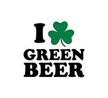 I love green beer shamrock Photographic Print