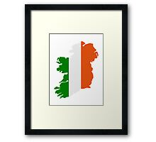 Ireland map flag Framed Print