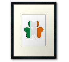 Ireland flag shamrock Framed Print
