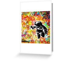 Space is right here!! All over the place COLORS Greeting Card