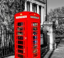 London Red Telephone Box by English Landscape Prints