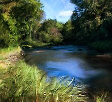 Stream of Blue by Terry  Pellmar