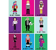 8-Bit Fashion Icons Photographic Print