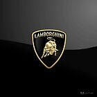 Lamborghini 3D Badge-Logo on Black by Captain7