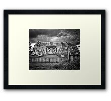 Storm Coming In On The Farm Framed Print