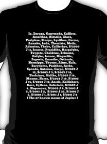 The moons of Jupiter T-Shirt
